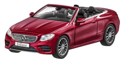 Модель Mercedes-Benz E-Class Cabriolet (A238), AMG Line, Scale 1:43, Designo Hyacinth Red Metallic