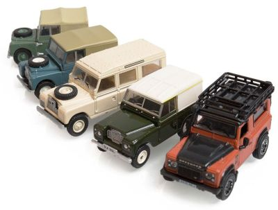 Набор моделей Land Rover Historic 5 Piece Set, Scale 1:76