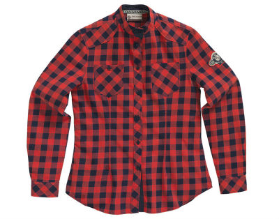 Женская блузка BMW Motorrad Ladies Checkered Blouse, Red