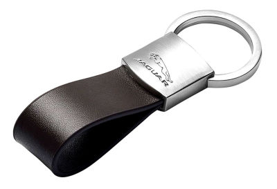 Брелок Jaguar Leather Loop Keyring, Black, 2018