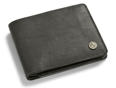 Кожаный кошелек BMW Motorrad Leather Wallet, Dark Grey