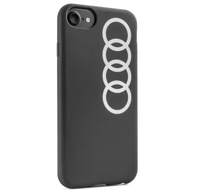 Чехол Audi для Apple iPhone 6/6s/7/8, Case Audi Rings, Dark Grey