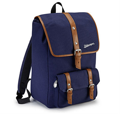 Рюкзак Volkswagen Classic Backpack, Dark Blue / Brown