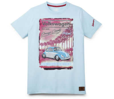 Мужская футболка Volkswagen Classic T-Shirt, Orange County, Men's, Turquoise