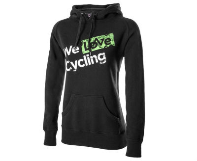 Женская толстовка Skoda Women's Sweatshirt, We love cycling, Black