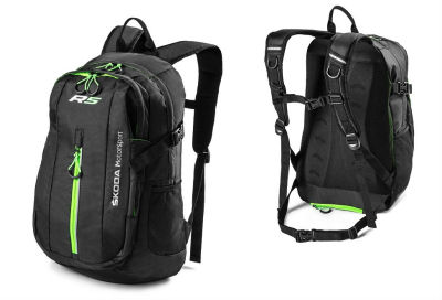Рюкзак Skoda Motorsport R5 Backpack by Stil, Black/Green