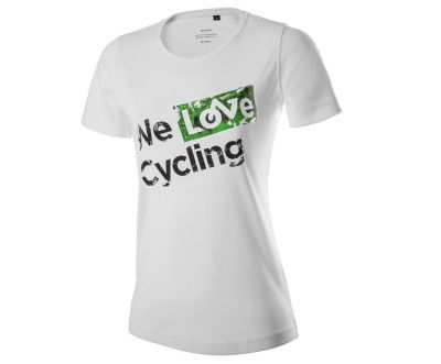 Женская футболка Skoda Women's T-Shirt, We love cycling, White