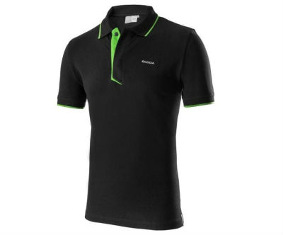 Мужская рубашка-поло Skoda Polo Shirt, Men's, Event Collection, Black/Green