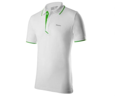 Мужская рубашка-поло Skoda Polo Shirt, Men's, Event Collection, White/Green