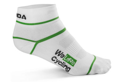 Носки унисекс Skoda Sport Socks, We Love Cycling, White