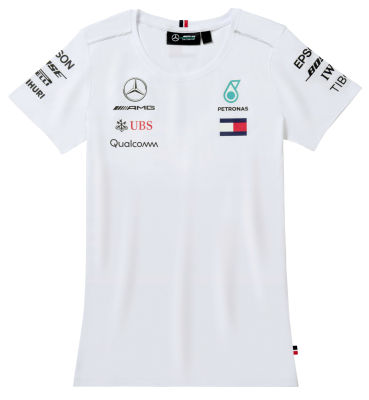 Женская футболка Mercedes-AMG Petronas Women's T-shirt, Driver, Men's, White