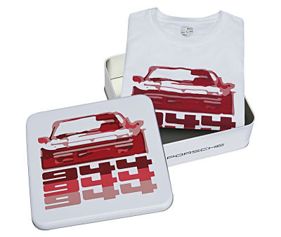 Футболка унисекс Porsche 944, Collector's T-Shirt, Unisex, White/Red