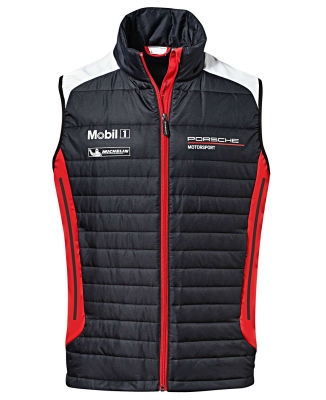 Жилет унисекс Porsche Unisex Vest - Motorsport, Black / White / Red, 2018