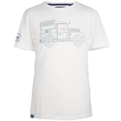 Мужская футболка Land Rover Men's Defender Graphic T-Shirt, White