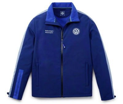 Мужская куртка Volkswagen Softshell Jacket, Legendary years of Motorsport, Men's, Blue