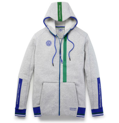Толстовка унисекс Volkswagen Motorsport Sweat Jacket, Unisex, Grey Melange