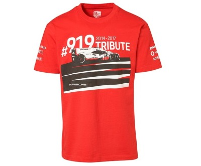 Футболка унисекс Porsche T- Shirt, Unisex, Red - 919 Tribute