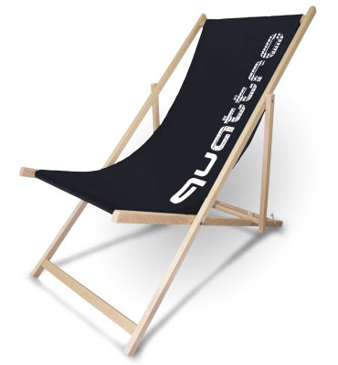 Складное кресло Audi quattro Deck Chair, Black