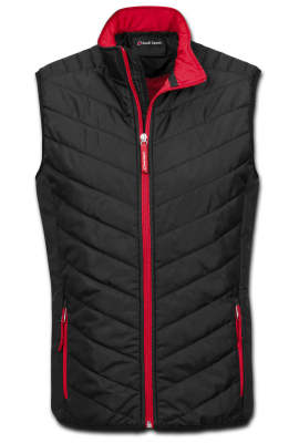Стеганый мужской жилет Audi Sport Quilted Vest, Mens, Black/Red