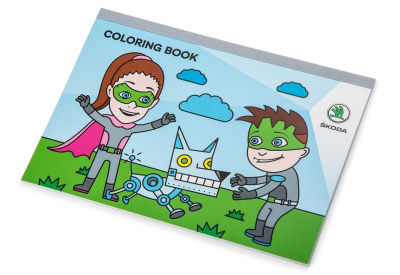 Детская книжка-раскраска Skoda Children Colouring Book, Laura and Klement Heroes