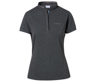 Женское поло Porsche Women's Polo Shirt, Classic, Dark Grey Melange
