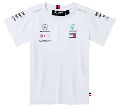 Детская футболка Mercedes Children's T-shirt, F1 Driver, White 2018