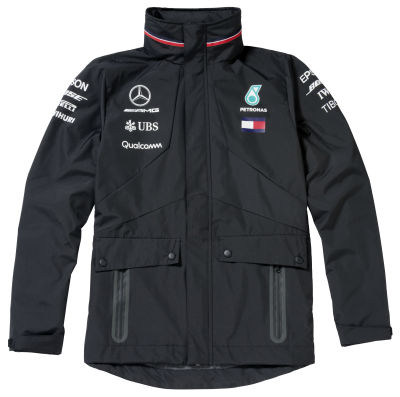 Мужская непромокаемая куртка Mercedes F1 Men's Cagoule, Team 2018, Black