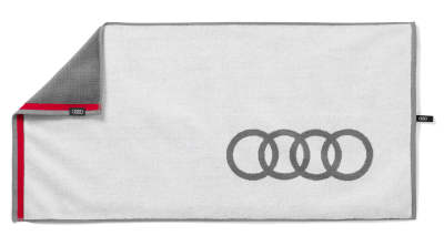 Полотенце для рук Audi Hand Towel, White/Grey
