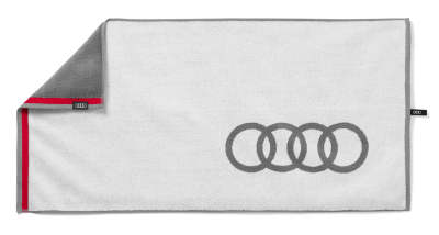 Банное полотенце Audi Bath Towel, White/Grey