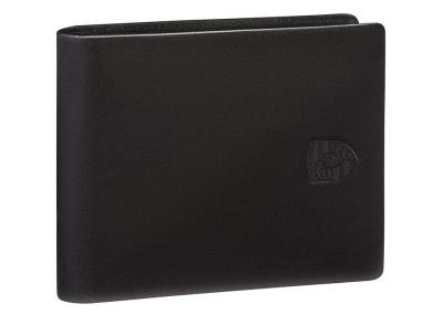 Мужской кожаный кошелек Porsche Wallet with Coin Compartment, Men, RFID, Black