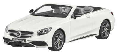 Модель Mercedes-AMG S 63, Cabriolet, Designo Diamond White Bright, 1:18 Scale