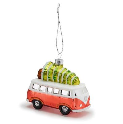 Елочная игрушка Volkswagen Decoration Christmas T1 Bulli Orange