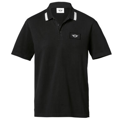 Мужская рубашка-поло MINI Logo Patch Polo Men´s, Black/White