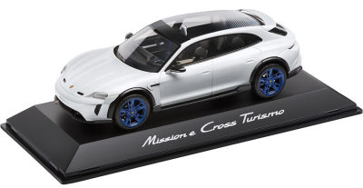 Модель автомобиля Porsche Mission E Cross Turismo, Scale 1:18, Light Grey Metallic