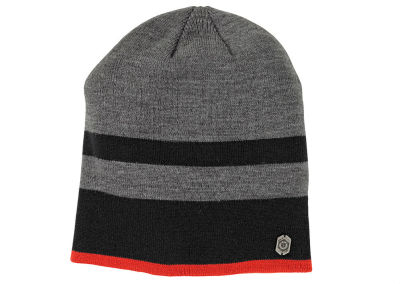 Вязаная шапка BMW Motorrad Knitted Beanie Stripes, Men, Grey/Black/Red