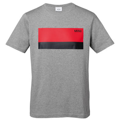 Мужская футболка MINI Wordmark T-Shirt Men's, Grey/Coral/Black