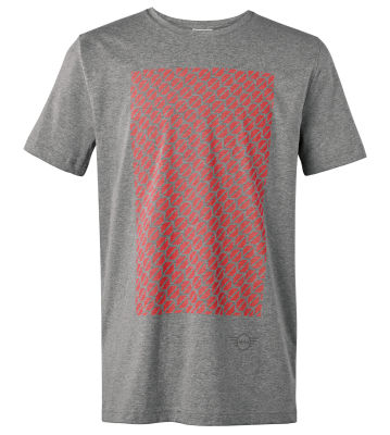 Мужская футболка MINI Men's T-Shirt Signet, Grey/Coral