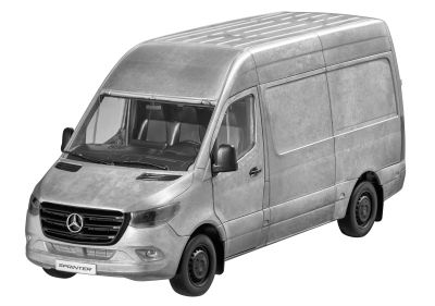 Модель Mercedes-Benz Sprinter, Panel Van, Rugged Edition, silver-coloured, Scale 1:18
