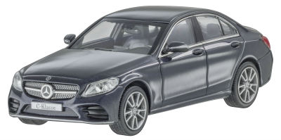 Модель Mercedes C-Class W205 AMG Line, Scale 1:43, Anthracite Blue