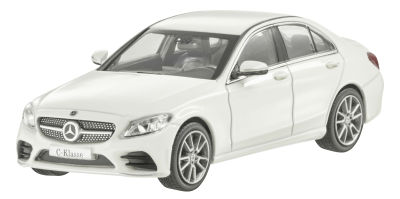 Модель Mercedes C-Class W205 AMG Line, Scale 1:43, Designo Diamond White Bright