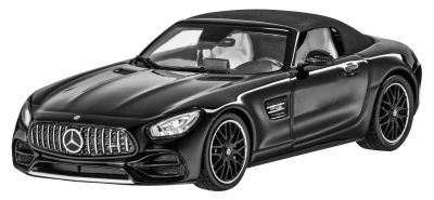 Модель автомобиля Mercedes-AMG GT, Roadster, Magnetite Black Metallic, 1:43 Scale