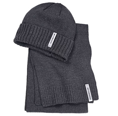 Набор из шапки и шарфа Porsche Scarf and Hat Set, Essential Collection, Unisex