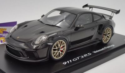 Модель автомобиля Porsche 911 GT3 RS (991 II) Weissach Package, Scale 1:18, Black