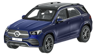 Модель Mercedes-Benz GLE (V167 series), Brilliant Blue, Scale 1:18