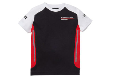 Детская футболка Porsche Kids' T-Shirt – Motorsport, Black/White/Red