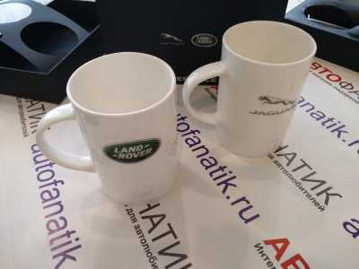 Набор из двух кружек Jaguar / Land Rover, Classic Mug Set, 2pcs, White