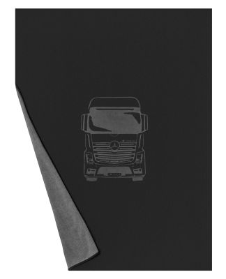Двусторонний плед Mercedes Reversible Fleece Blanket, Trucks, Black