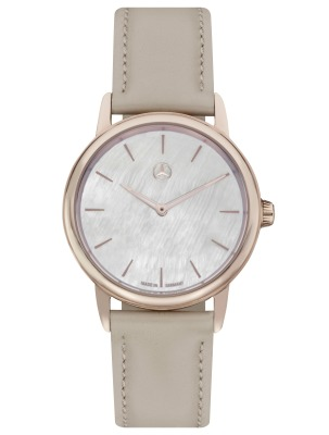 Женские наручные часы Mercedes-Benz Women's Watch, Basic, pink gold colours / beige