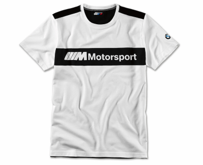 Мужская футболка BMW Motorsport T-Shirt, Colour Block Design, Men, White/Black