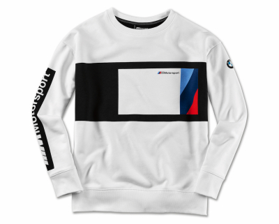 Женский свитер BMW M Motorsport Sweater Blocking Design, Ladies, Black/White